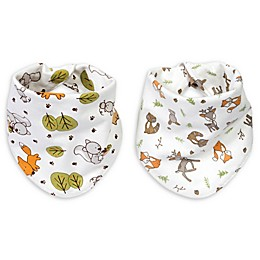 Trend Lab® 2-Pack Forest Bunch Reversible Bandana Bib Set