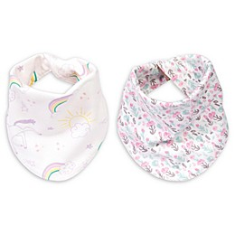 Trend Lab® 2-Pack Rainbow Reversible Bandana Bib Set