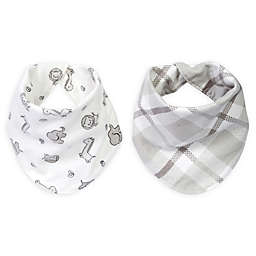 Trend Lab® Safari Chevron 2-Pack Reversible Flannel Bandana Bib Set