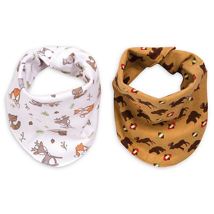 Alternate image 1 for Trend Lab® 2-Pack Northwoods Reversible Bandana Bib Set