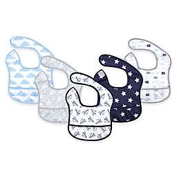 Hudson Baby 5-Pack Beginner Bibs with Crumb Catcher Pocket