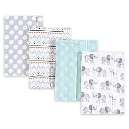 Hudson Baby 4-Pack Burp Cloth Set