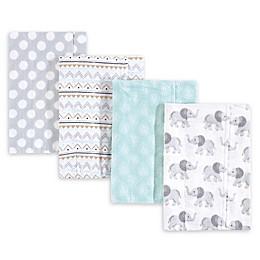 Hudson Baby 4-Pack Burp Cloth Set
