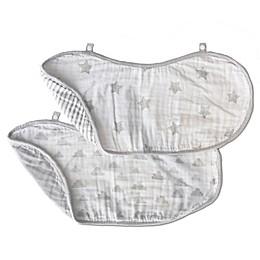 Living Textiles® Grey Star 2-Pack Burp Cloth Set