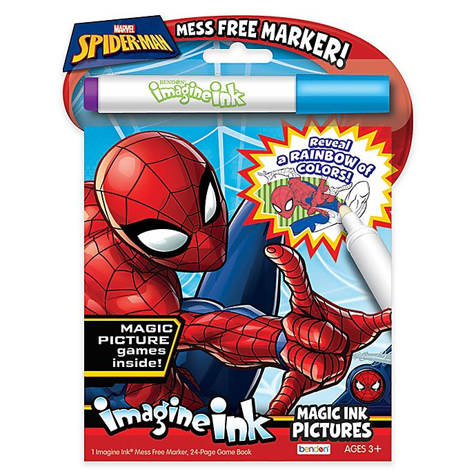 Alternate image 1 for Nickelodeon™ Spiderman Imagine Ink Magic Marker and Activity Book