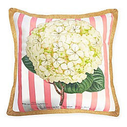 The New York Botanical Garden Hydrangea Indoor/Outdoor Square Throw Pillow