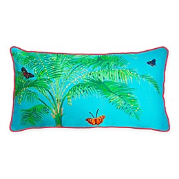 The New York Botanical Garden Butterfly Palm Indoor/Outdoor Oblong Throw Pillow