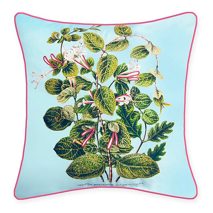 Alternate image 1 for The New York Botanical Garden Leafy Floral Indoor/Outdoor Square Throw Pillow