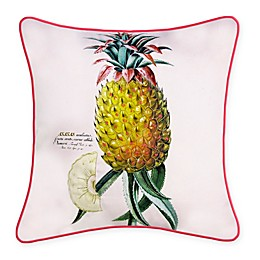 New York Botanical Garden Pineapple Indoor/Outdoor Square Throw Pillow