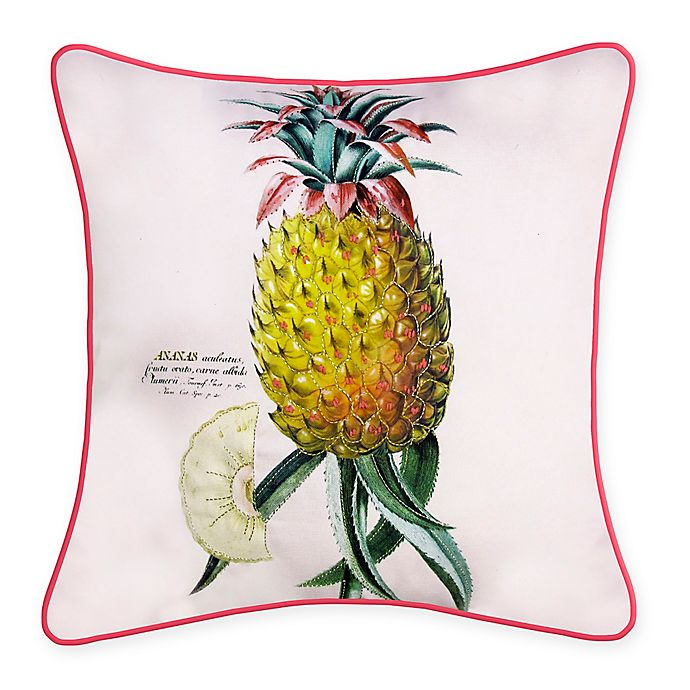 Alternate image 1 for New York Botanical Garden Pineapple Indoor/Outdoor Square Throw Pillow