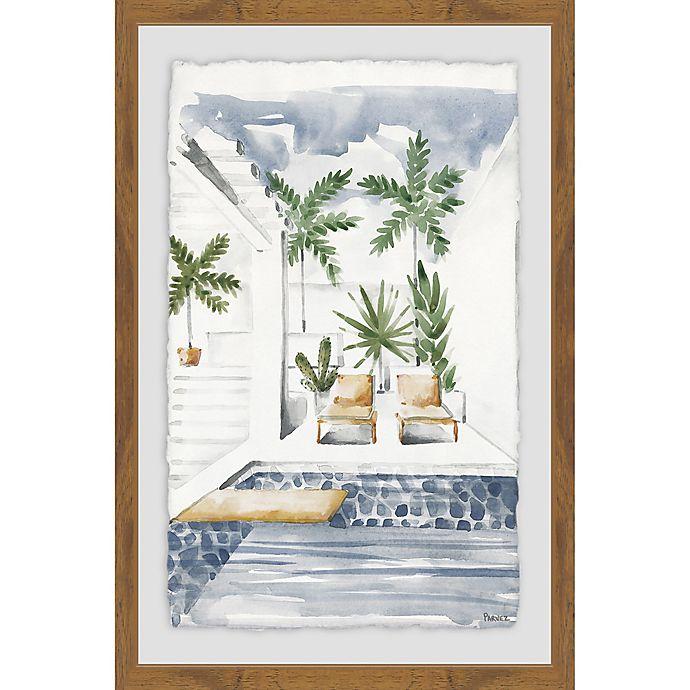 Alternate image 1 for Parvez Taj Lounge by the Pool 16-Inch x 24-Inch Framed Wall Art