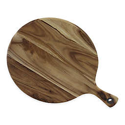 CraftKitchen™ 11.5-Inch Round Chop/Prep/Serve Acacia Wood Cutting Board in Brown