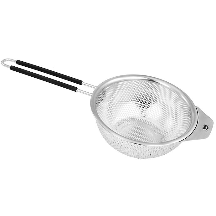Alternate image 1 for Craft Kitchen® 6-Inch Stainless Steel Strainer in Black/Silver