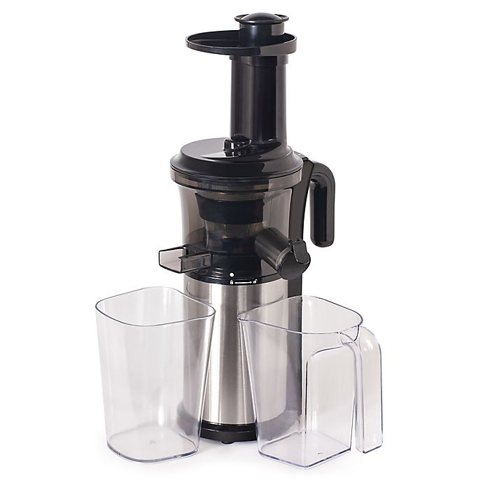 Alternate image 1 for Shine 32 oz. Cold Press Vertical Slow Juicer in Black