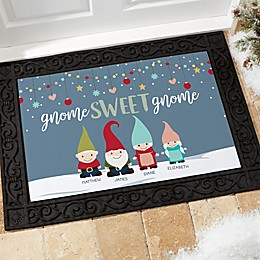 Gnome Family Personalized Doormat