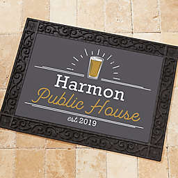 Public House Personalized Doormat