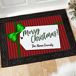 Gift Tag Personalized Doormat