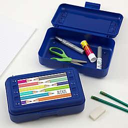 Vibrant Hues Personalized Blue Pencil Box