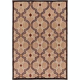 Surya Modern Ikat Indoor/Outdoor Rug in Brown