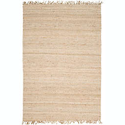 Surya Jute Bleached Natural 5' x 7'6 Area Rug in Cream