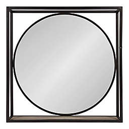 Kate and Laurel 24-Inch Square McCauley Wall Mirror
