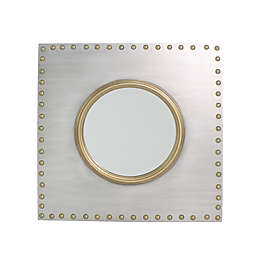 Carolina Forge Griffin 30-Inch Square Wall Mirror in Iron/Gold