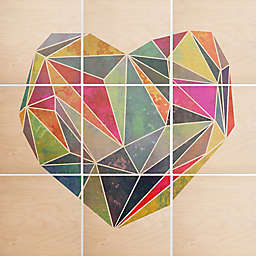 Deny Designs 9-Piece Heart Graphic Multicolor Square Wall Art