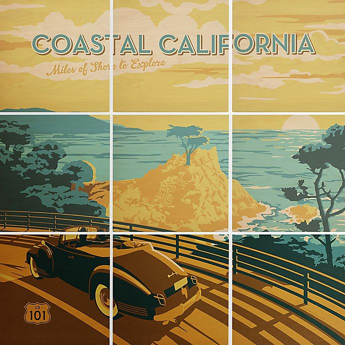 Alternate image 1 for Deny Designs 9-Piece Coastal Cali Square Wall Art in Green