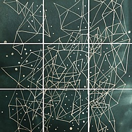 Deny Designs 9-Piece Constellations Square Wall Art in Blue