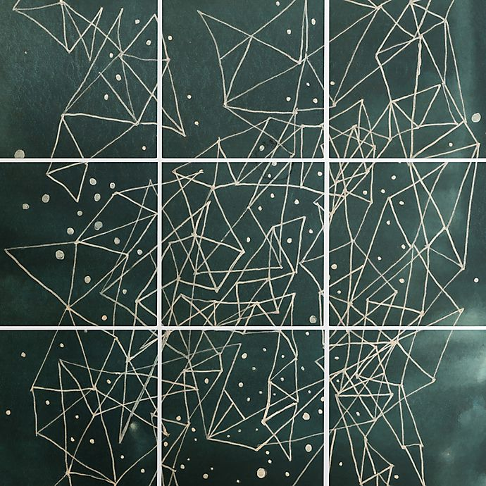 Alternate image 1 for Deny Designs 9-Piece Constellations Square Wall Art in Blue