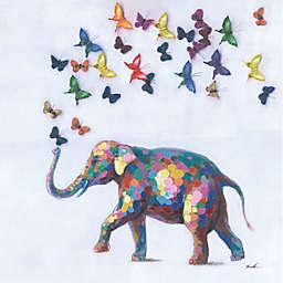 ArtMasion Canada Multicolored Elephant Canvas Wall Art