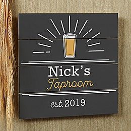 Public House Personalized Wooden Shiplap Sign