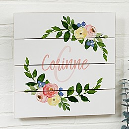 Floral Baby Personalized Wooden Shiplap Signs