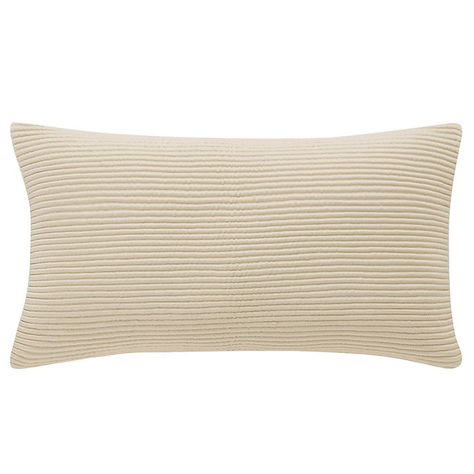 Alternate image 1 for Waterford® Abrielle Oblong Throw Pillow in Champagne