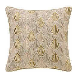 Waterford® Abrielle 14-Inch Square Throw Pillow in Champagne