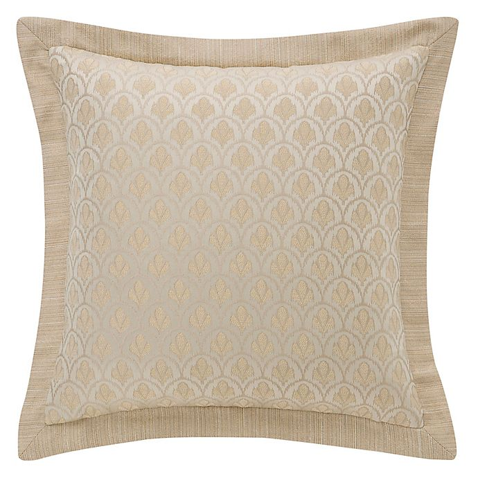 Alternate image 1 for Waterford® Abrielle 18-Inch Square Throw Pillow in Champagne