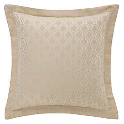 Waterford® Abrielle 18-Inch Square Throw Pillow in Champagne