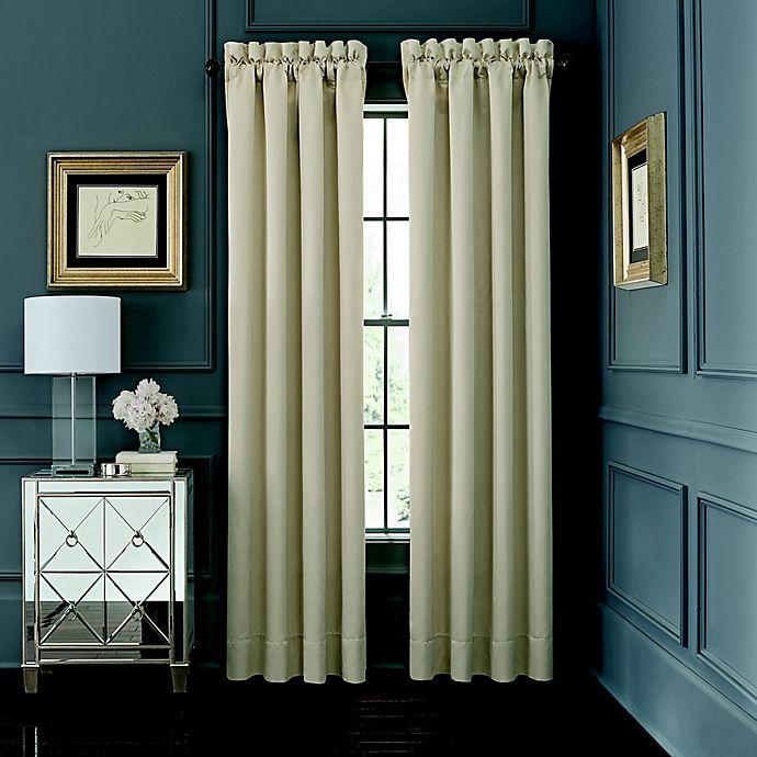 Alternate image 1 for Waterford® AbriElle 2-Pack 84-Inch Rod Pocket Window Curtain in Ivory