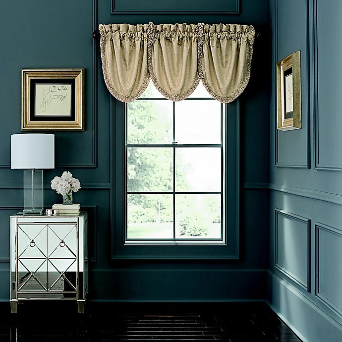 Alternate image 1 for Waterford® Abrielle Rod Pocket Window Valance in Champagne