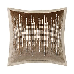 Charisma® Paloma Velvet Embellished Square Throw Pillow in Gold