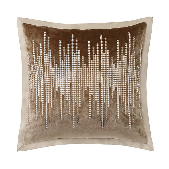 Alternate image 1 for Charisma® Paloma Velvet Embellished Square Throw Pillow in Gold