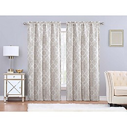 Charisma® Paloma 84-Inch Rod Pocket Window Curtain Panel Pair in Gold