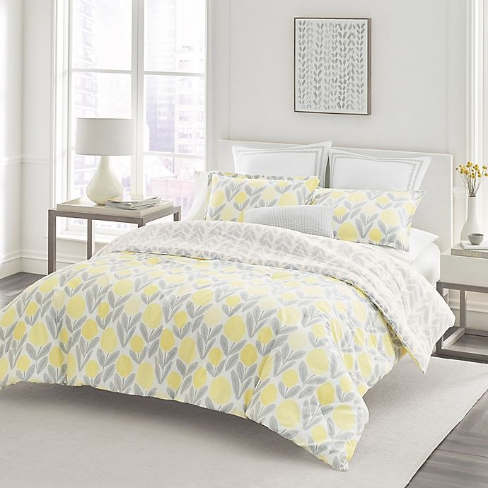 Alternate image 1 for Laura Ashley® Serena Full/Queen Duvet Set in Yellow