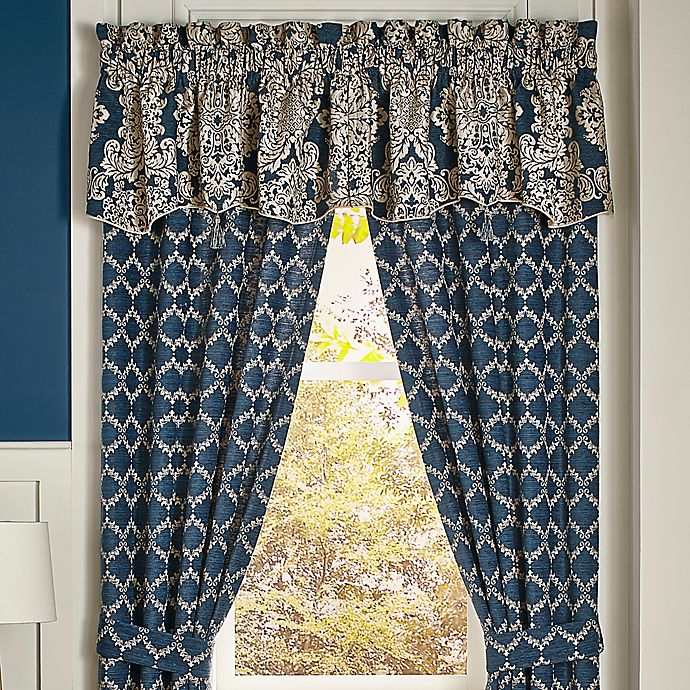 Alternate image 1 for Croscill® Madrena Window Valance in Deep Teal