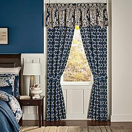 Croscill® Madrena Rod Pocket Window Curtain Panel Pair in Teal