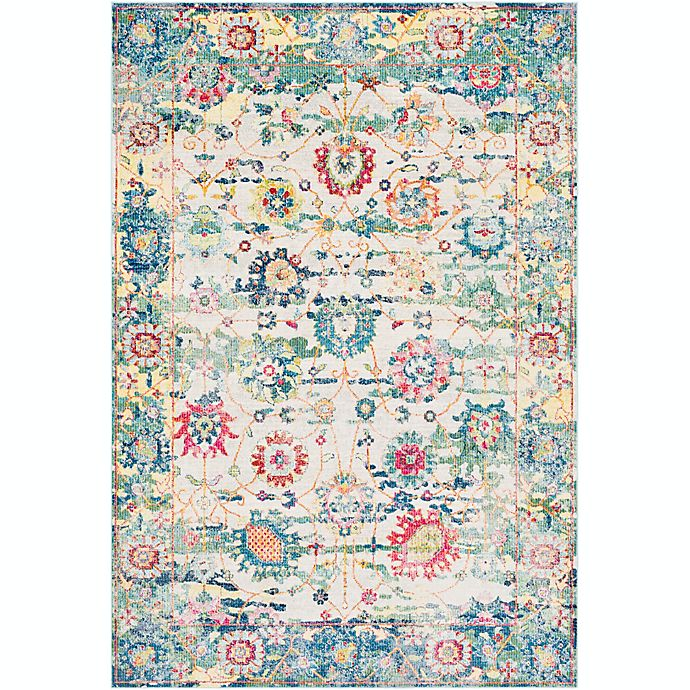 Alternate image 1 for Surya Aura Floral 7'10 x 10'3 Loomed Area Rug in Sky Blue