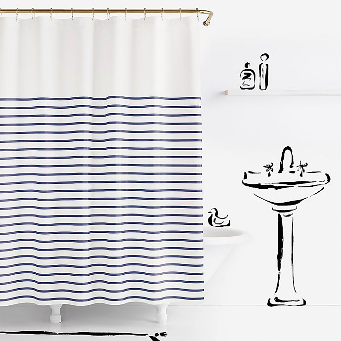 Alternate image 1 for kate spade new york Harbour Stripe Shower Curtain