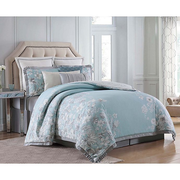 Alternate image 1 for Charisma Molani Queen 4-Piece Comforter Set in Turquoise/Silver