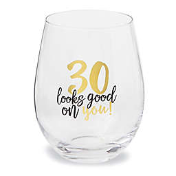 Mud Pie® 30 Looks Good On You Wine Glasses (Set of 6)