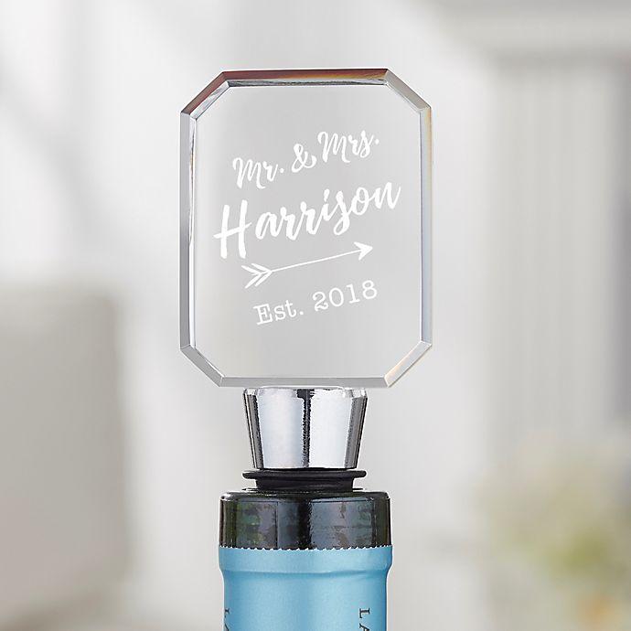 Alternate image 1 for Sparkling Love Wedding Personalized Bottle Stopper